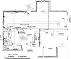 Plans for the basement show the detailed layout including key structures.